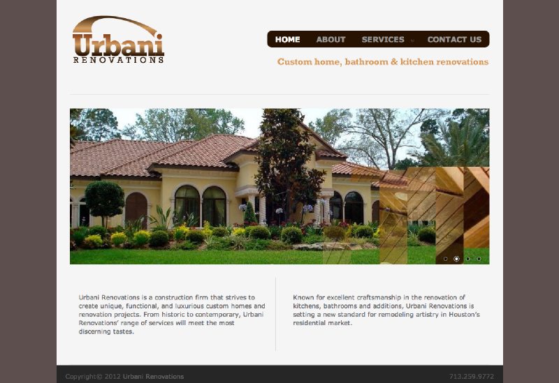 Comhome Design Companies : Web Design for construction and renovation company