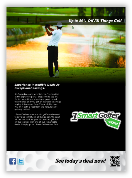 print ad 1 for golf company