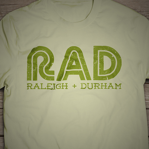 raleigh and durham combination t-shirt