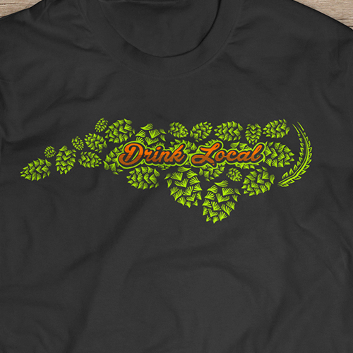 drink local raleigh tshirt